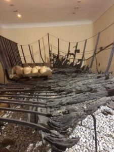 Musée d'Archéologie sous-marine de Bodrum, excavation de bateau.
