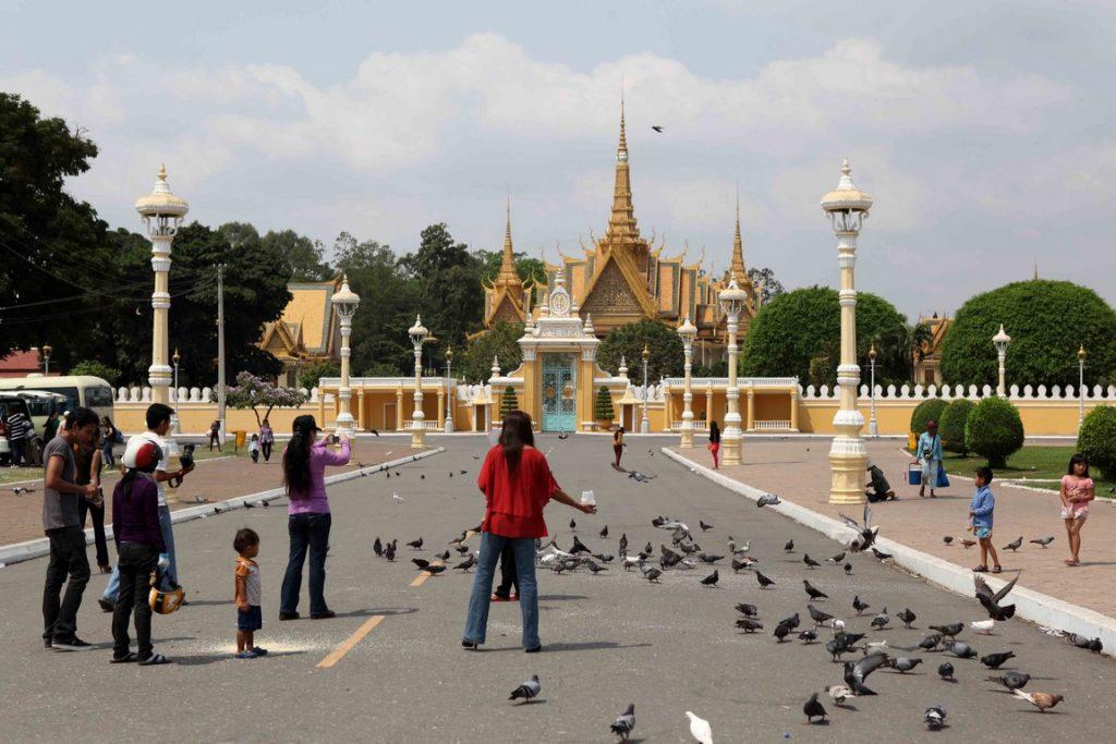 Palais Royal de Phnom Penh où vit la famille royale.