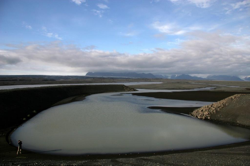 Une lagune dans le sud de l'Islande au bord de la Route n° 1.