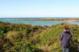 Chausey - vue sur la mer