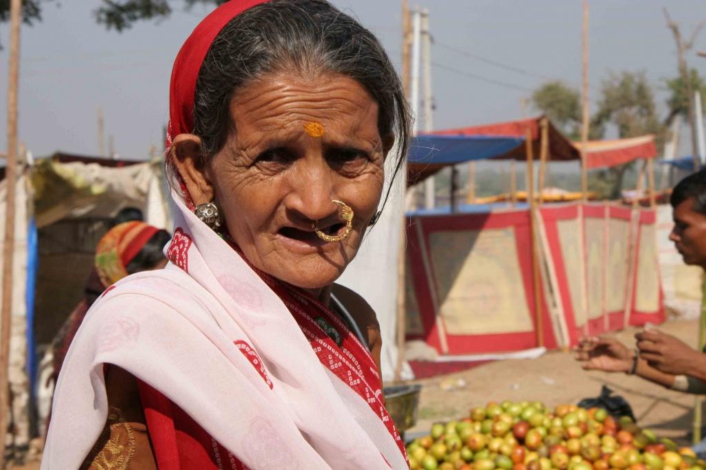 En Inde, un bijou nasal est associé à la fécondité et à la beauté féminine.