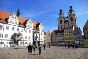 Wittenberg, place de l'hôtel de ville.