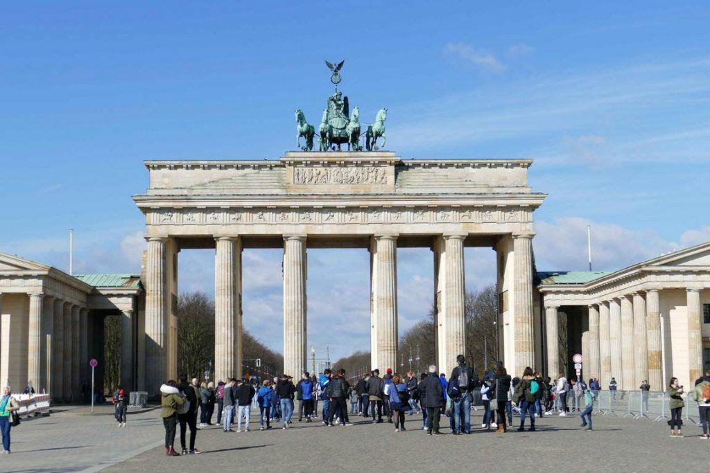 Berlin, Porte de Brandebourg.