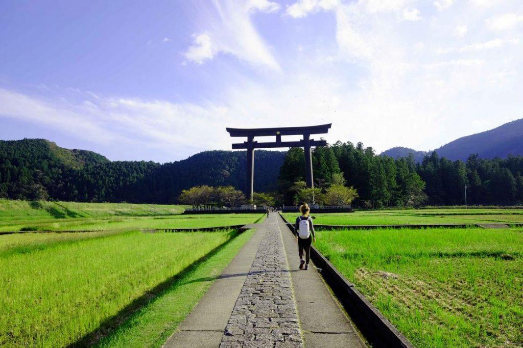 Torii du sanctuaire shintoïste de Kumano Hongū Taisha