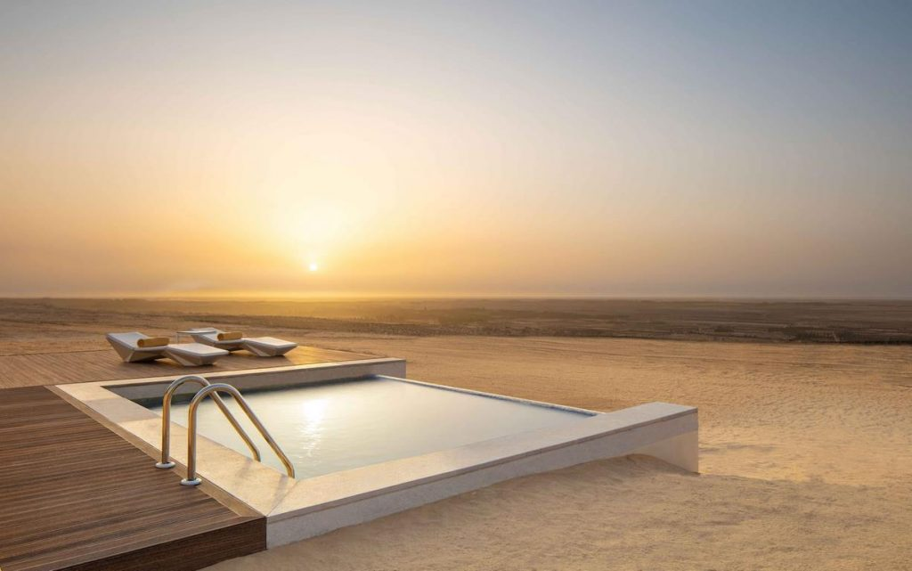 Anantara Resort, Tozeur, piscine privée d'une suite de luxe.