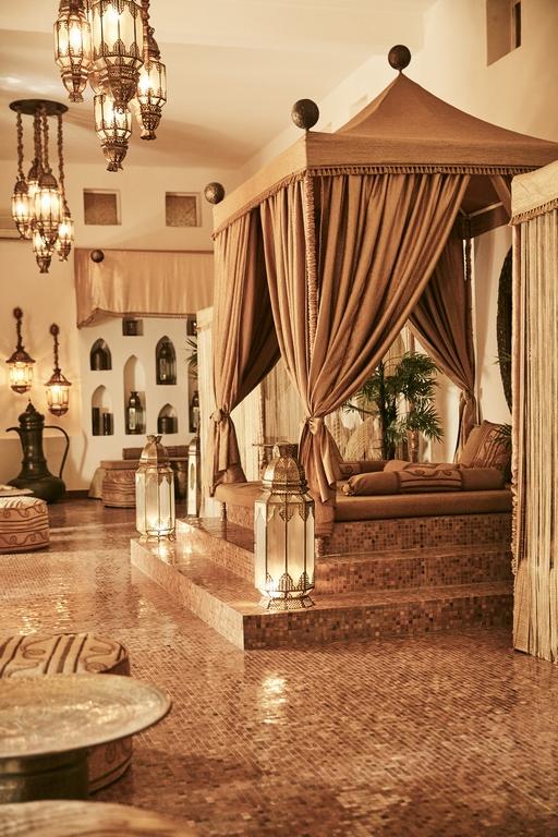 Zanzibar. Bazara resort. Salle d'accueil du spa Frangipani.