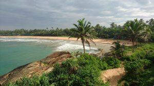 Sri Lanka. A environ une heure trente au sud de Colombo, les magnifques étendues de sable de Bentota comptent parmi les plus belles plages du pays.