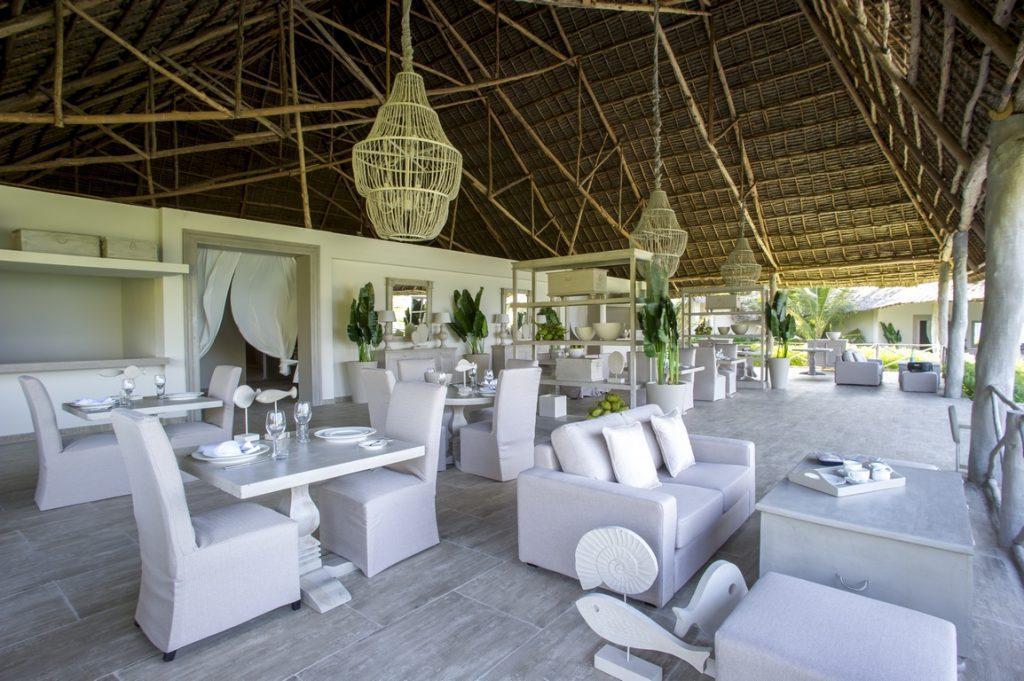 Zanzibar. Restaurant de l'hôtel Zawadi.