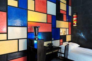 Marrakech. Villa Makassar. Chambre Piet Mondrian.