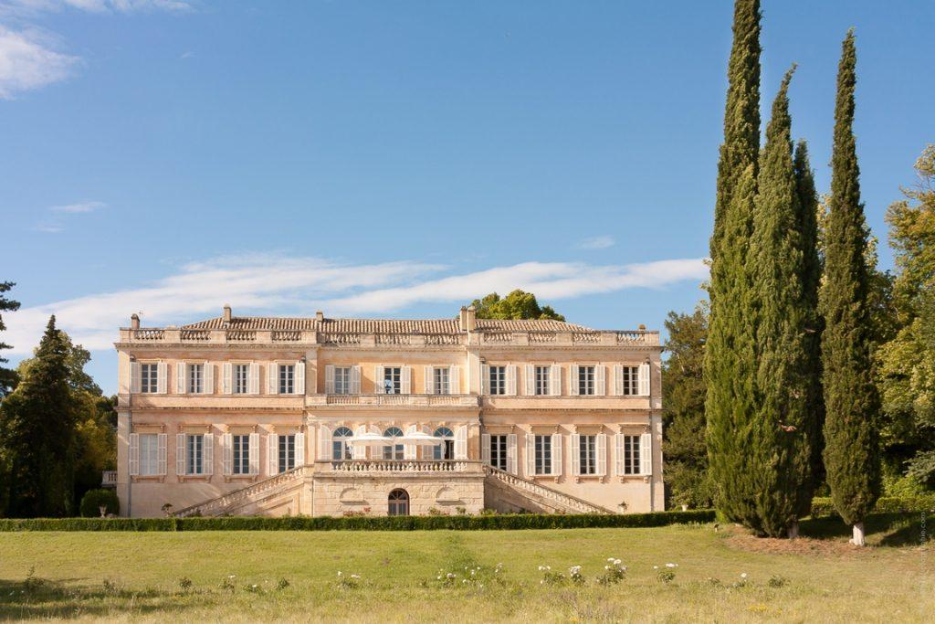 Carpentras. Vue générale du Château Martinay, côté sud.