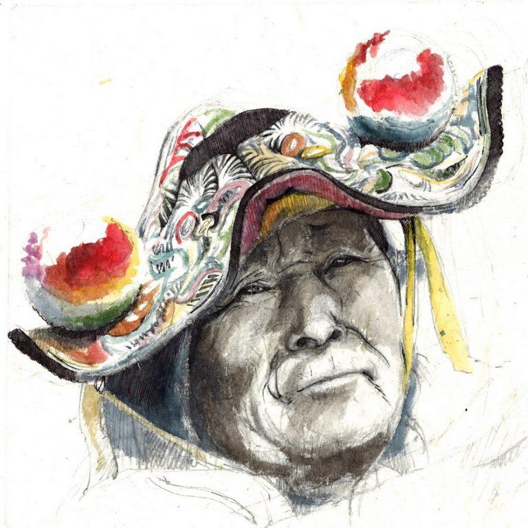 Femme de Llachon, Pérou. Copyright Slova Roginski.