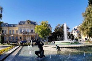 Bulgarie. Place de la ville de Ruse ou Rousse.