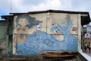 Brésil. Salvador de Bahia. Street art. Cette sirène est-elle mami wata ?