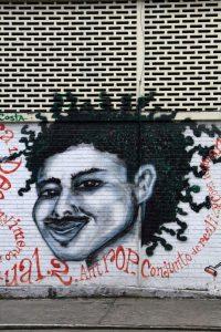 Brésil. Salvador de Bahia. Street art. Autoportrait.