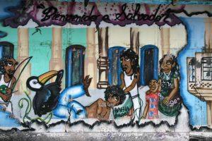 Brésil. Salvador de Bahia. Street art.