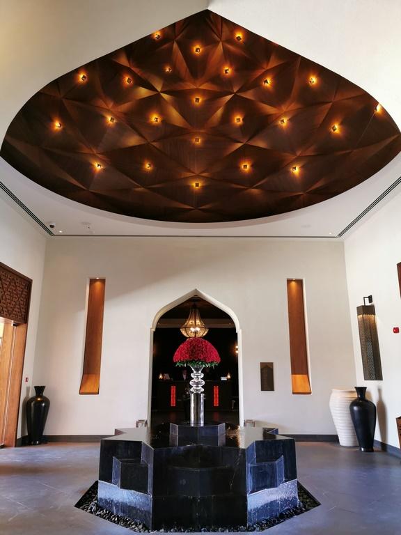 Oman. Réception de l'Anantara Al Jabal Al Akhdar.